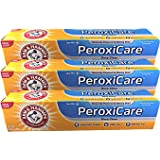 Arm & Hammer PeroxiCare Healthy Gums Toothpaste, Baking Soda & Peroxide, Fresh Mint, 6 Ounce (Pack of 3)