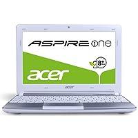 Acer Aspire One D270 25,7 cm (10,1 Zoll, matt) Netbook (Intel Atom N2600, 1,6GHz, 1GB RAM, 320GB HDD, Bluetooth, Win 7 Starter, 8h Akkulaufzeit ) weiß
