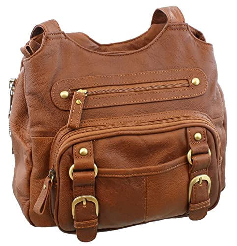Concealed Carry Purse, Genuine Leather Locking CCW Gun Bag