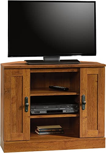 Sauder Harvest Mill Corner Entertainment Stand, For TV s up to 37 , Abbey Oak finish