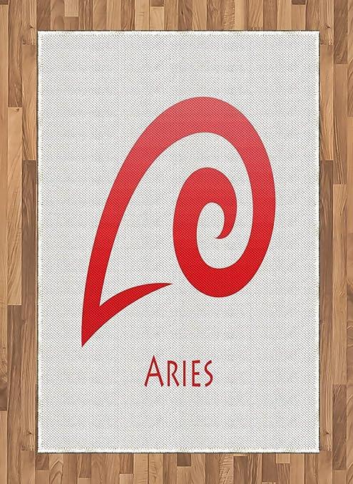 ABAKUHAUS Zodiacal Aries Alfombra de Área, Simple İcono Moderno ...