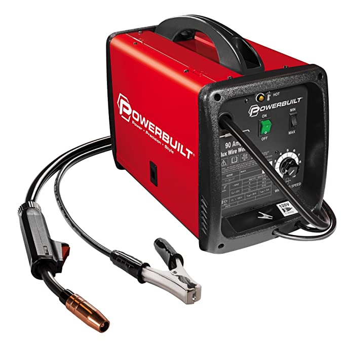 Powerbuilt Mig 90 Amp Flux Core Wire Feed Welder Compact - 240032 - - Amazon.com