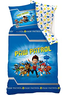 La Pat  Patrouille - Housse de couette réversible - Enfant  Amazon ... f69b7a193f50