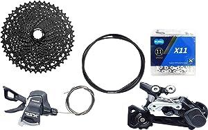 JGbike Compatible MTB groupset for Shimano M8000 M7000 M5100 11 Speed shifters & Rear Derailleur, KMC X11 Chain,Sunrace 11-46T CSMS8 11-50T CSMX80, Shimano CSM8000/M5100 51T Cassette