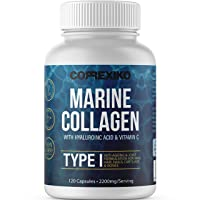 CORREXIKO Marine Collagen Pills, High Strength 2200mg Anti-Ageing Tablets (Canadian...