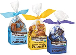 product image for AvenueSweets - Handcrafted Dairy-Free Vegan Individually Wrapped Soft Caramels - 3 x 5.2 oz Boxes - Trio