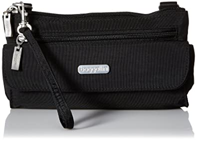 Amazon.com: Baggallini Plaza Mini cartera cruzada, negro ...