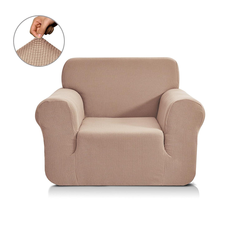 (Chair, Light Khaki) - CHUN YI Jacquard Sofa Covers 1-Piece Polyester Spandex Fabric Slipcover (Chair, Light Khaki) B0721XC3B6 Chair|ライトカーキ ライトカーキ Chair