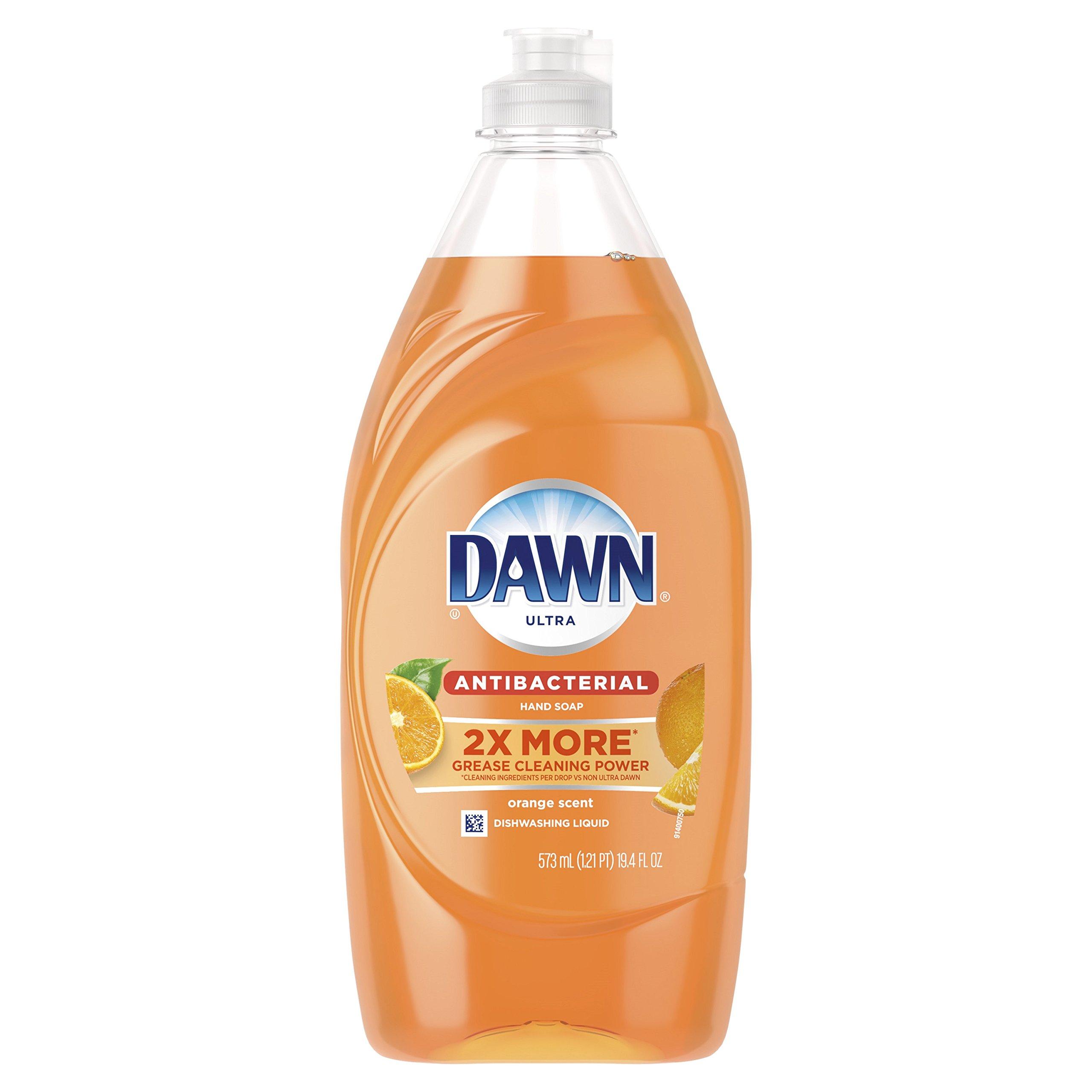Dawn Ultra Antibacterial Hand Soap, Orange, 19.4 Fluid Ounce (Packaging May Vary)