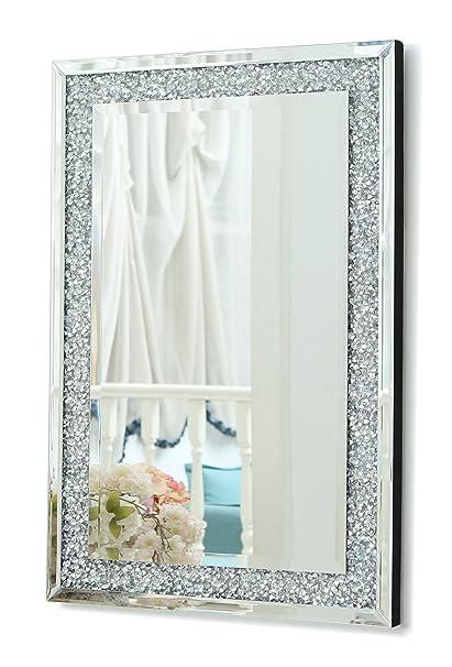 RICHTOP Grande Specchio da Parete con Triplo rettangolo, con ...