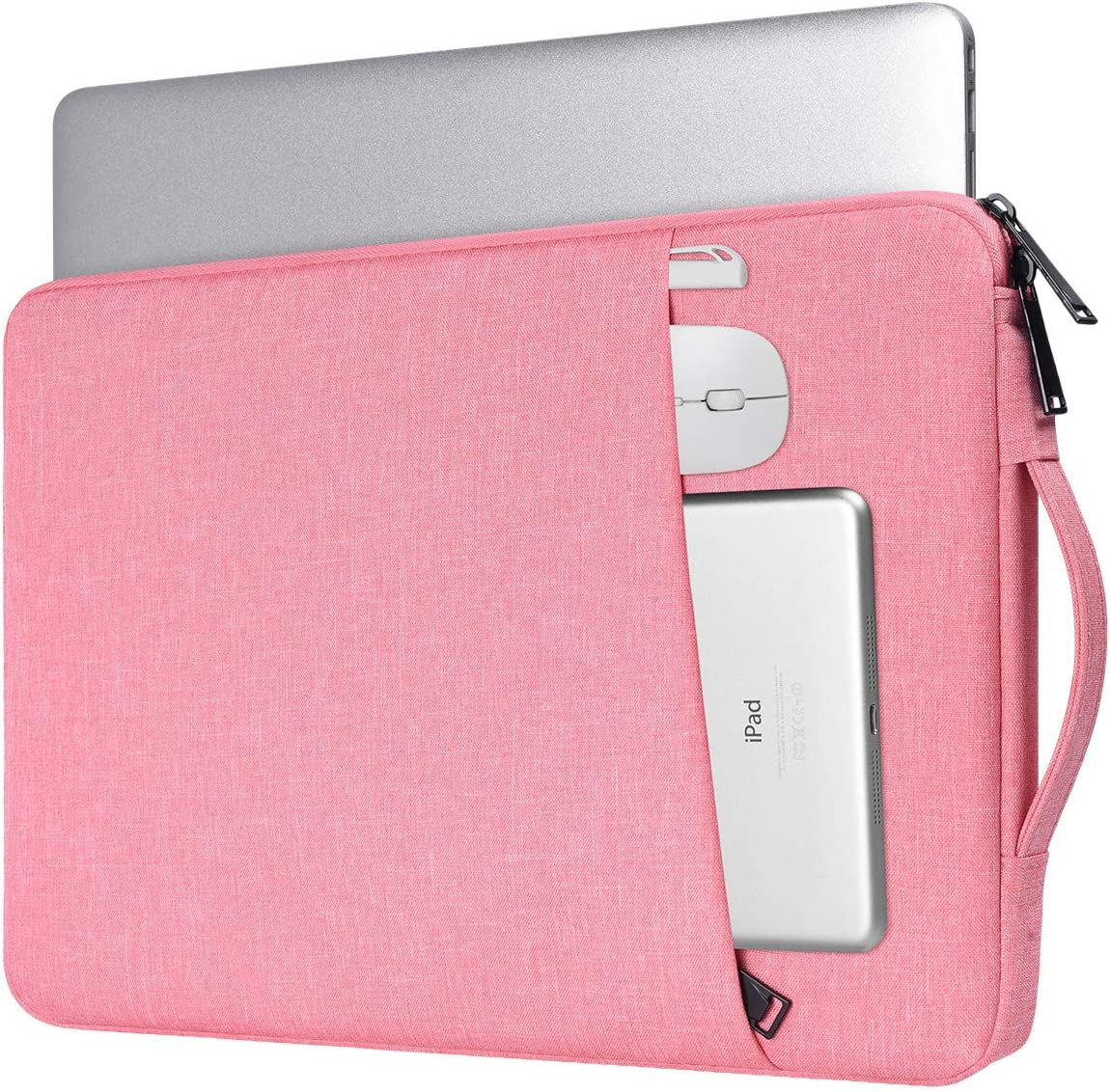 iKammo 14 Inch Laptop Sleeve Case Bag for Asus Chromebook 14/Asus Vivobook 14, Lenovo ThinkPad 14/Lenovo Flex 14/Lenovo Yoga, Dell XPS 15 7590, Acer HP Chromebook 14, MacBook Pro 15 Inch(Pink)