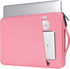13.3 Inch Laptop Sleeve Case for Women, Chromebook Tablet Bag for Dell Inspiron 13 7000/Dell XPS 13/Lenovo Yoga 730 720 13.3/LG Gram/HP Pavilion 13/HP Spectre x360 13.3 2019 (Pink)