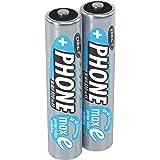 ANSMANN Akku Batterie AAA für Schnurlostelefon, 1,2V/800mAh/Wiederaufladbare Micro AAA Telefonakkus mit geringer Entladung & ohne Memory Effekt, Ideal für DECT-Telefone (2er Pack)