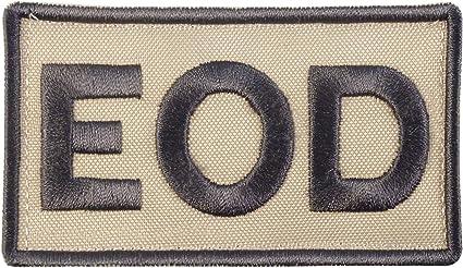 EOD explosive ordnance disposal arid desert AOR1 bordado emblema fastener patch