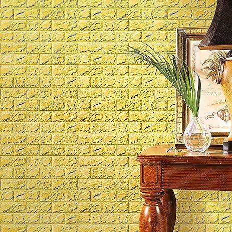Amazon.com: New PE Foam 3D Wallpaper DIY Wall Stickers Wall Decor ...