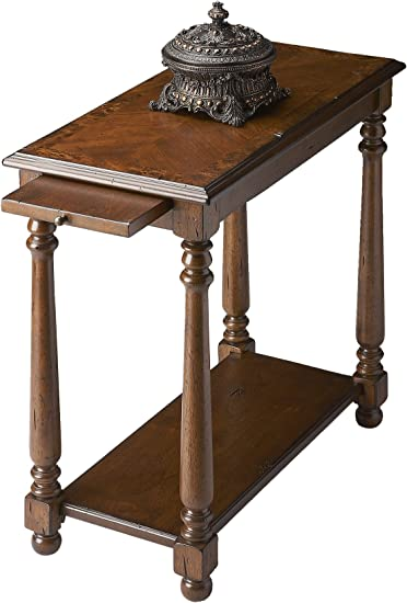 "Amazon.com: WOYBR CHAIRSIDE TABLE, 24.25"" x 24"" x 12"", Cherry"