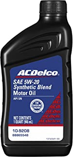 amazon com acdelco 10 9121 dexos1 5w 20 synthetic blend motor oil rh amazon com