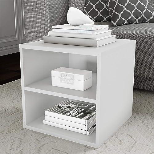Lavish Home White End Table