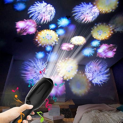 Amazon.com: Proyector de luces LED, linterna de festival de ...