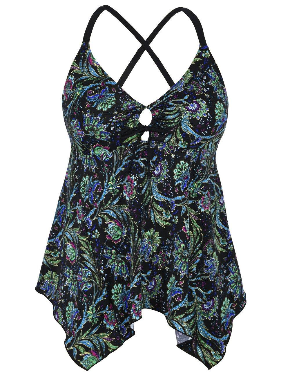 Hilor SWIMWEAR レディース B0793HL79R 12|Black&green Floral