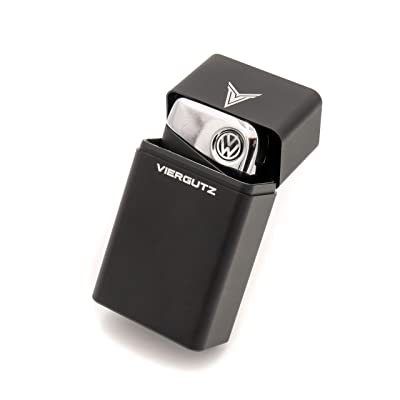 VIERGUTZ Faraday Key fob Protector Box, Luxury Key Fob Box, RFID Signal Blocker Pouch & Anti-Theft case. / Faraday cage (Black Horizontal) Total Signal Blocking for Smart Keys. Anti Skimming: Car Electronics