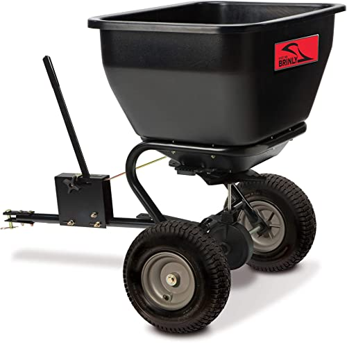 Brinly BS36BH, Black, 175 lbs Tow-Behind Broadcast Spreader