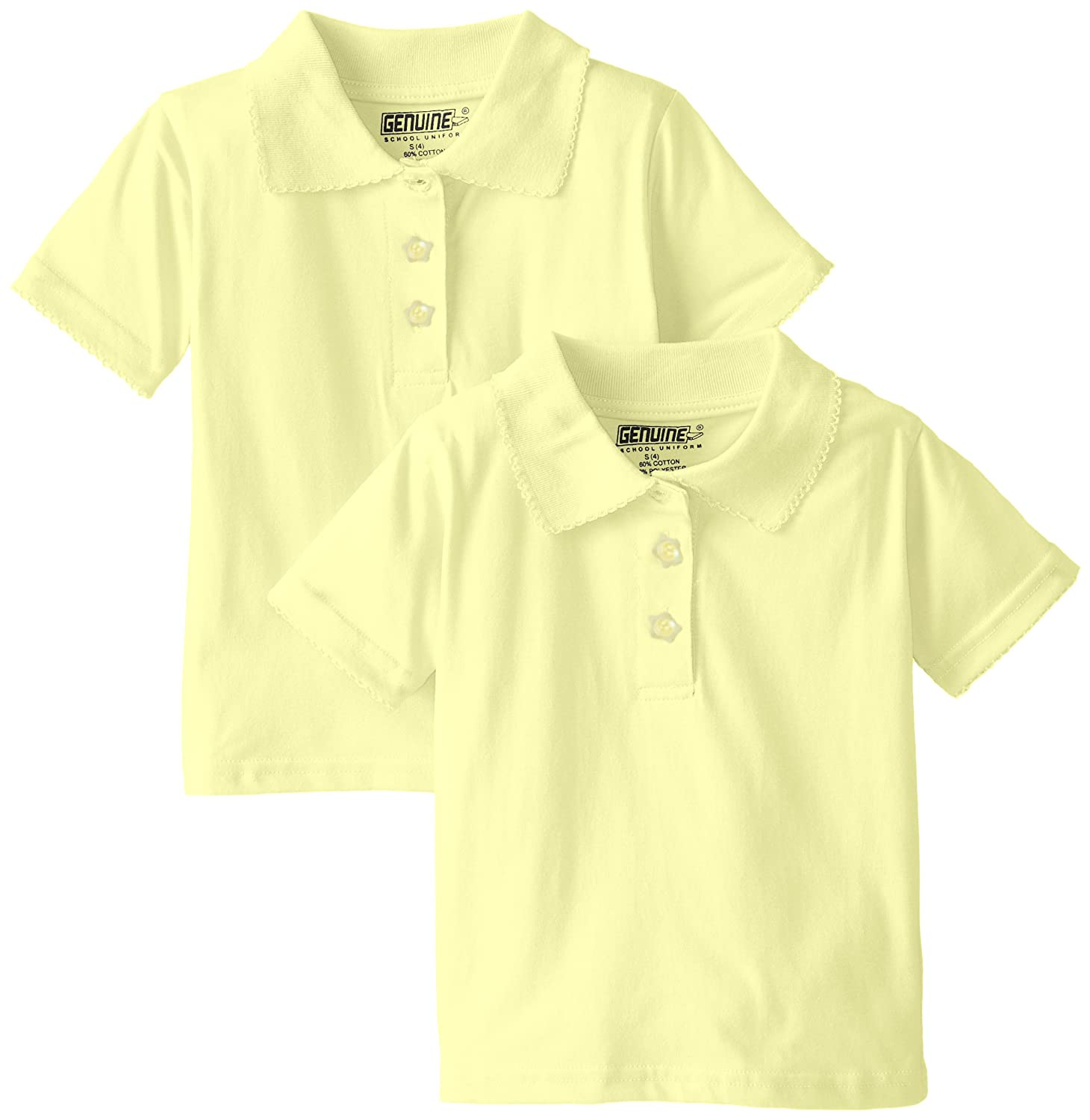 55926b51f Amazon.com  Genuine Girls  2 Pack Polo Shirt (More Styles Available)   Clothing