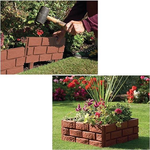 Surepromise 10 Pack Cobbled Stone Effect Plastic Garden Lawn