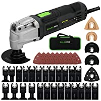GALAX PRO 2.4Amp 6 Variable Speed Oscillating Multi-Tool Kit with Quick-Lock accessory...