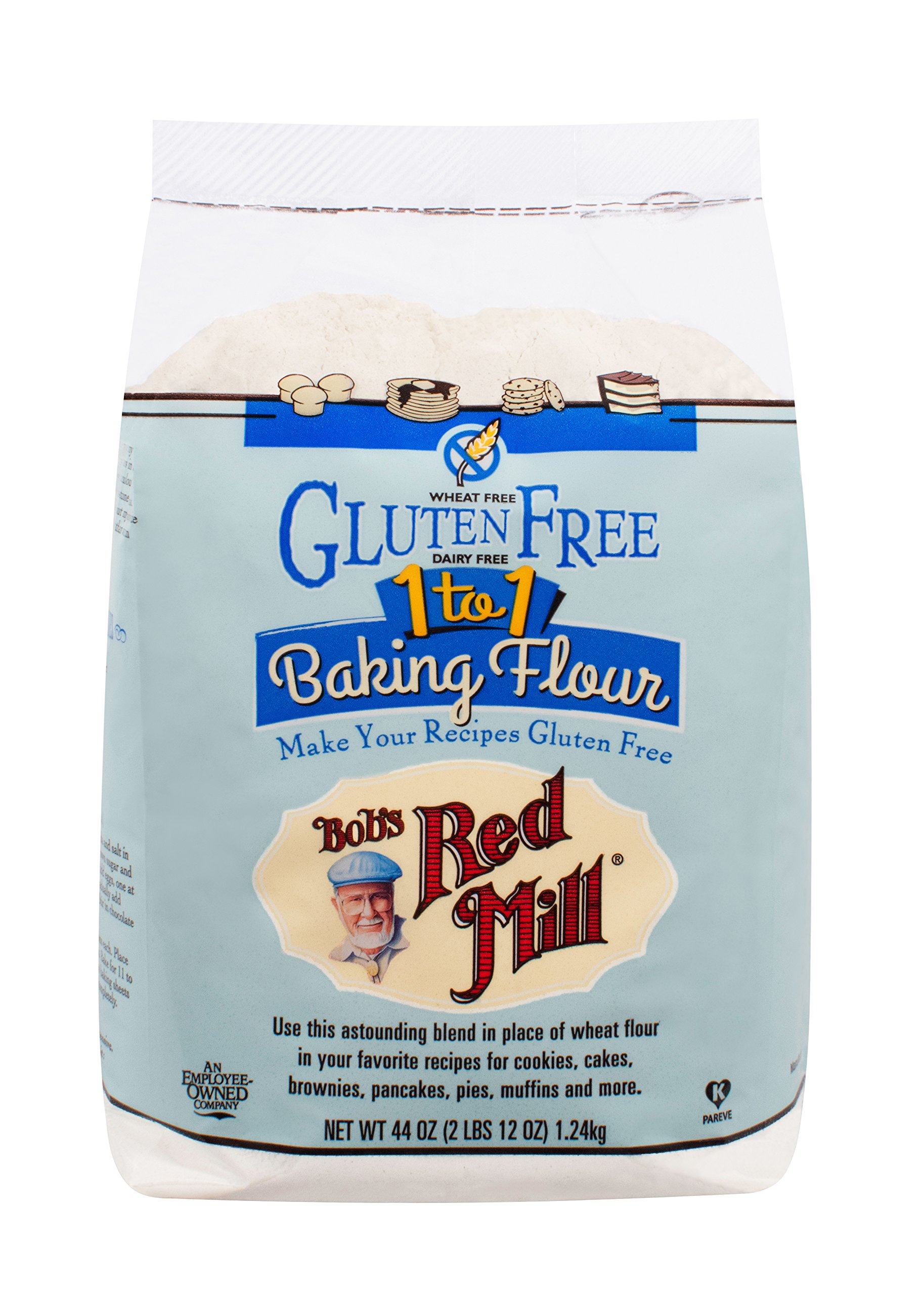 Bob's Red Mill Gluten Free 1 to 1 Baking Flour, 44 Ounce (Pack of 4) by Bob's Red Mill (Image #3)