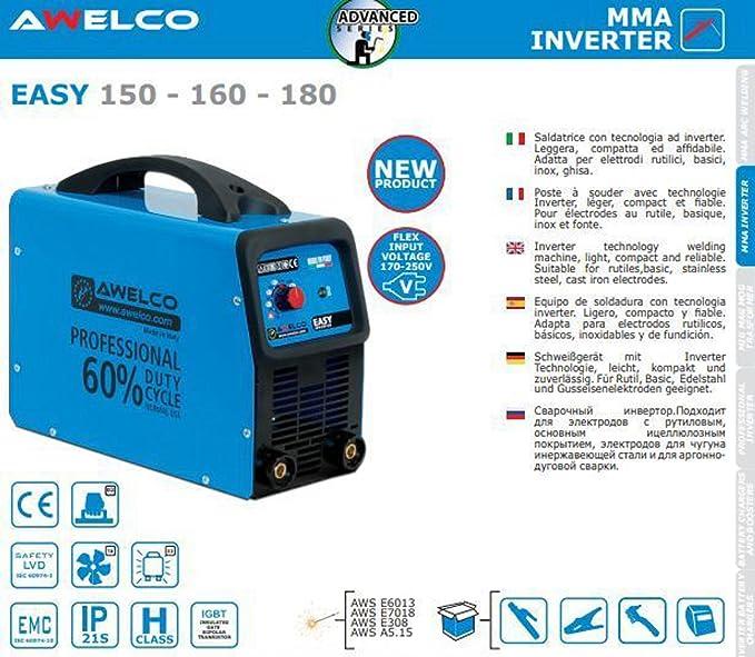 Soldador inverter Awelco Easy 150 + Cargador Compresor De Arranque 6 - 12 V: Amazon.es: Bricolaje y herramientas