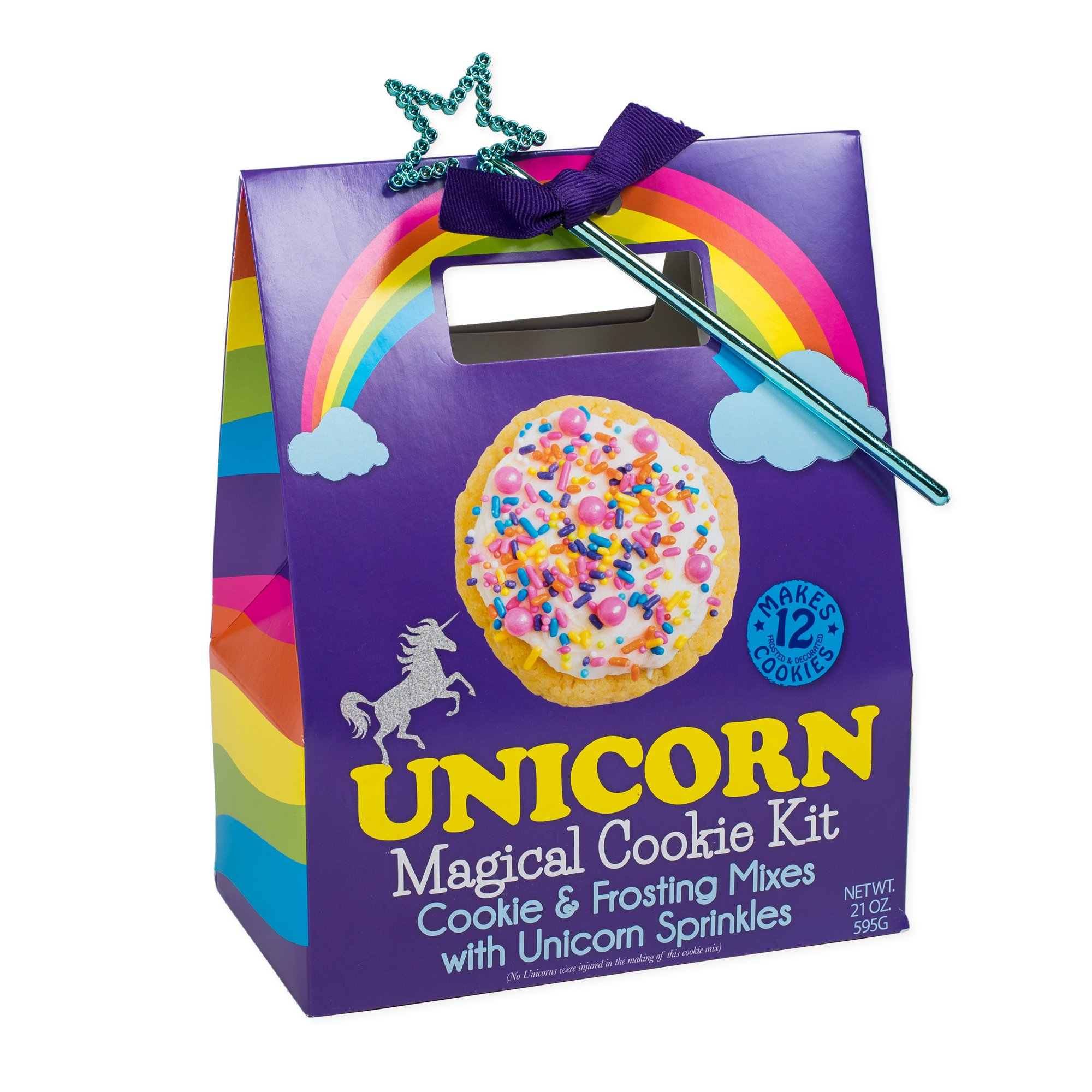 Unicorn Magical Cookie Mix and Sprinkles with Star Wand Carry Out Box Set