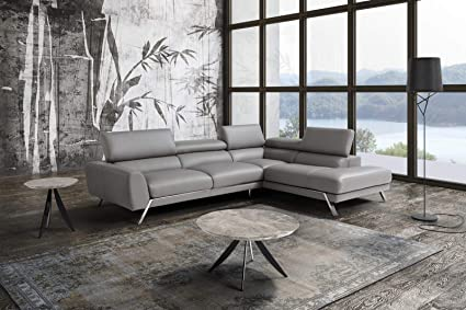 Amazon.com: J&M Furniture Mood Italian Leather Right Facing ...