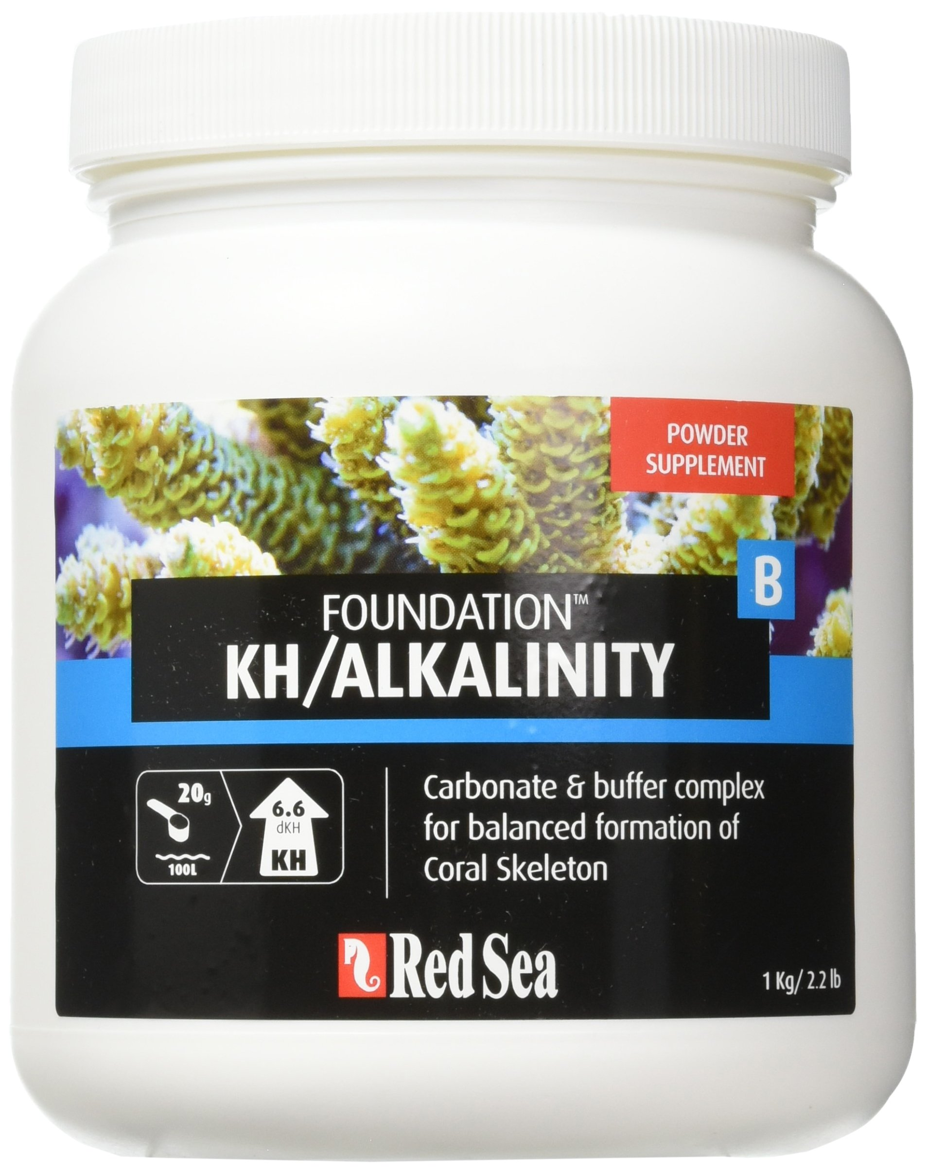 Red Sea Fish Pharm ARE22027 Reef Foundation Buffer Supplement-B for Aquarium, 1kg
