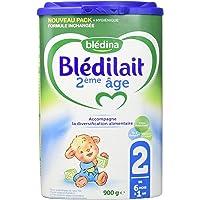 Blédina Blédilait - Lait bébé 2ème âge en poudre de 6 à 12 mois 900 g - Pack de 6