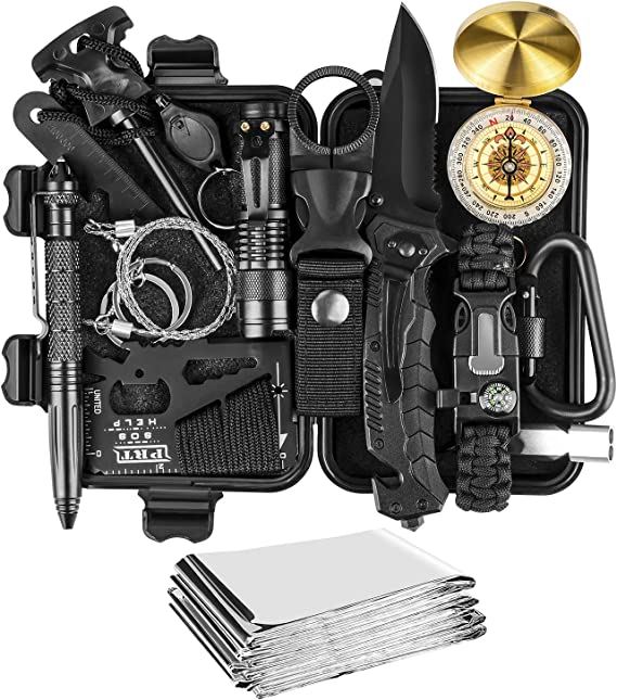 18 in 1 Emergency Survival Kit Professional Tactical Defense Equitment Tools