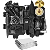 JINAGER Survival kit, Professional Emergency Survival gear 15 in 1, Upgraded Tactical Defense Tool for Hiking Camping…