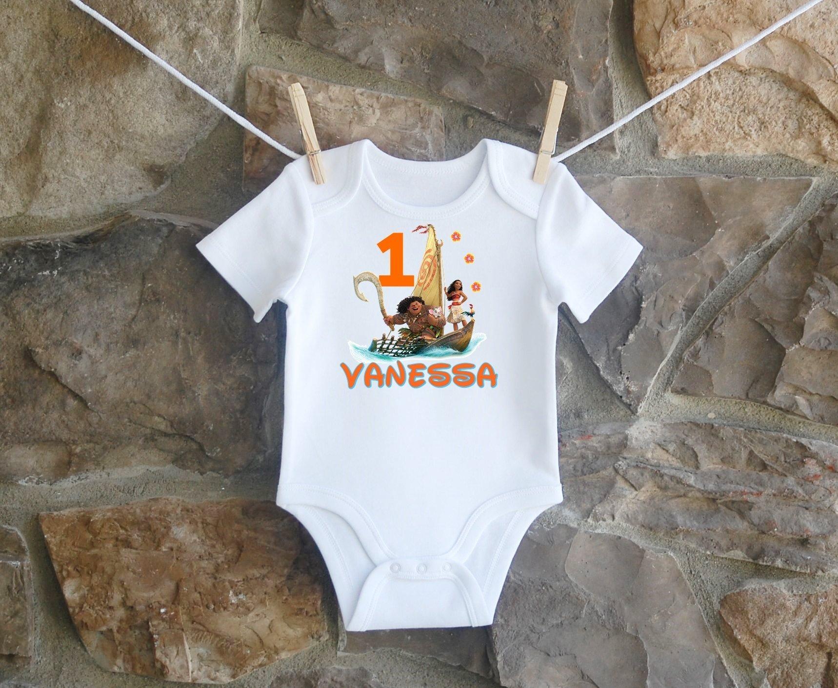 Moana And Maui Birthday Shirt, Moana And Maui Birthday Shirt For Girls, Personalized Girls Moana And Maui Birthday Shirt, Customized Moana And Maui Birthday Shirt