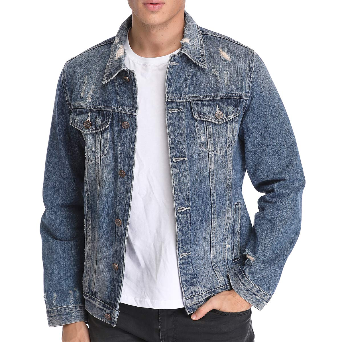 112f0df3e8 Just No Logo Men s Casual Denim Jacket at Amazon Men s Clothing store