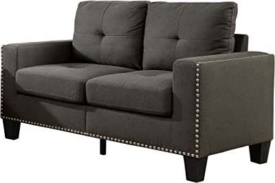 HOMES: Inside + Out IDF-6594-LV Behling Loveseat, Grey