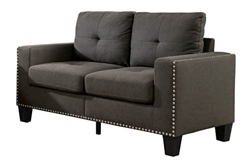 HOMES Inside Out Behling Loveseat, Grey
