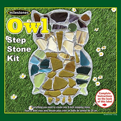 Midwest Products Mosaic Stepping Stone Kit, Owl: Arts, Crafts & Sewing