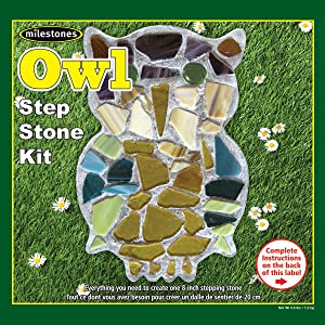 Midwest Products Mosaic Stepping Stone Kit, Owl
