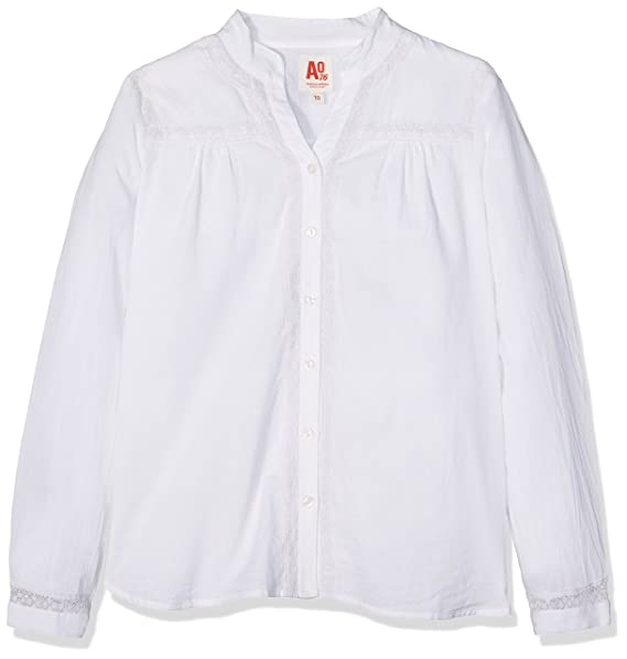 AO 76 Venice Shirt, Camisa para Niñas, Blanco (White 100), 10