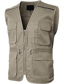 H2H Mens Casual Waterproof Multi-Pocket Outdoor Active Cargo Camping Vest