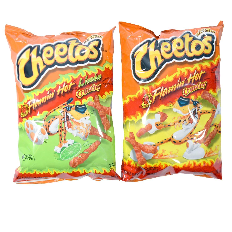 Cheetos Party Bundle: Flamin Hot Crunchy Flamin Hot Crunchy Limon 8.5 oz Bag Set