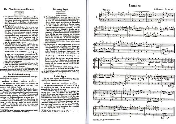 SONATINEN pour Piano bande 1 – Beethoven, CLEMENTI, dia Belli ...