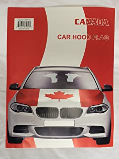 Canadian Flag Car Hood Cover Universal Fit