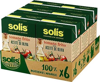 Oferta amazon: SOLIS Tomate Frito Con Aceite de Oliva Brick- Pack de 6 x 400g - Tomate sin gluten