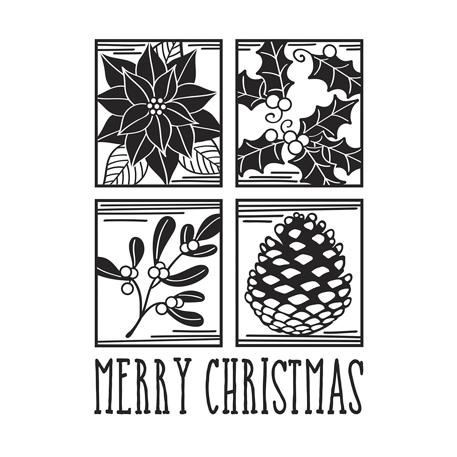 Darice Embossing Folder Merry Christmas Square Collage Emobssing 30008379